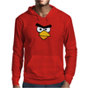 Angry Birds - Red Bird Face - Video Game Character - Gaming Design Mens Hoodie