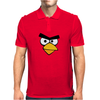 Angry Birds - Red Bird Face - Video Game Character - Gaming Design Mens Polo