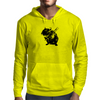 Angry street art mouse / hamster (baseball edit) Mens Hoodie