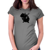 Angry street art mouse / hamster (baseball edit) Womens Fitted T-Shirt