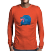 Angry Wolf Mens Long Sleeve T-Shirt