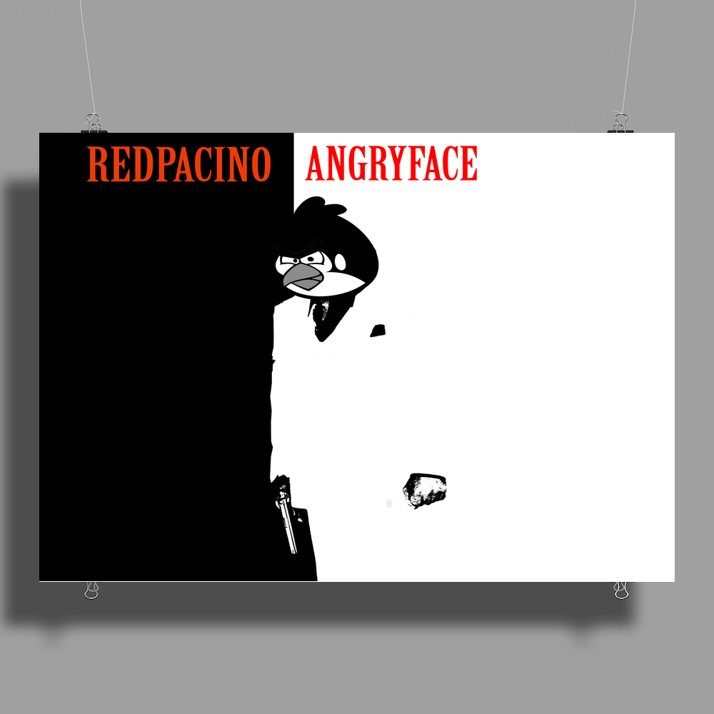 ANGRYFACE Poster Print (Landscape)
