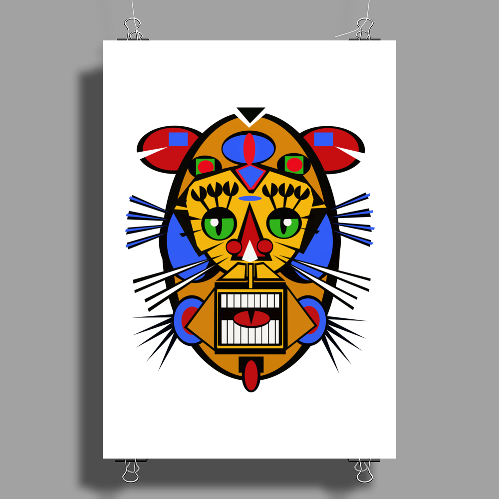 Animal Face  poster Poster Print (Portrait)