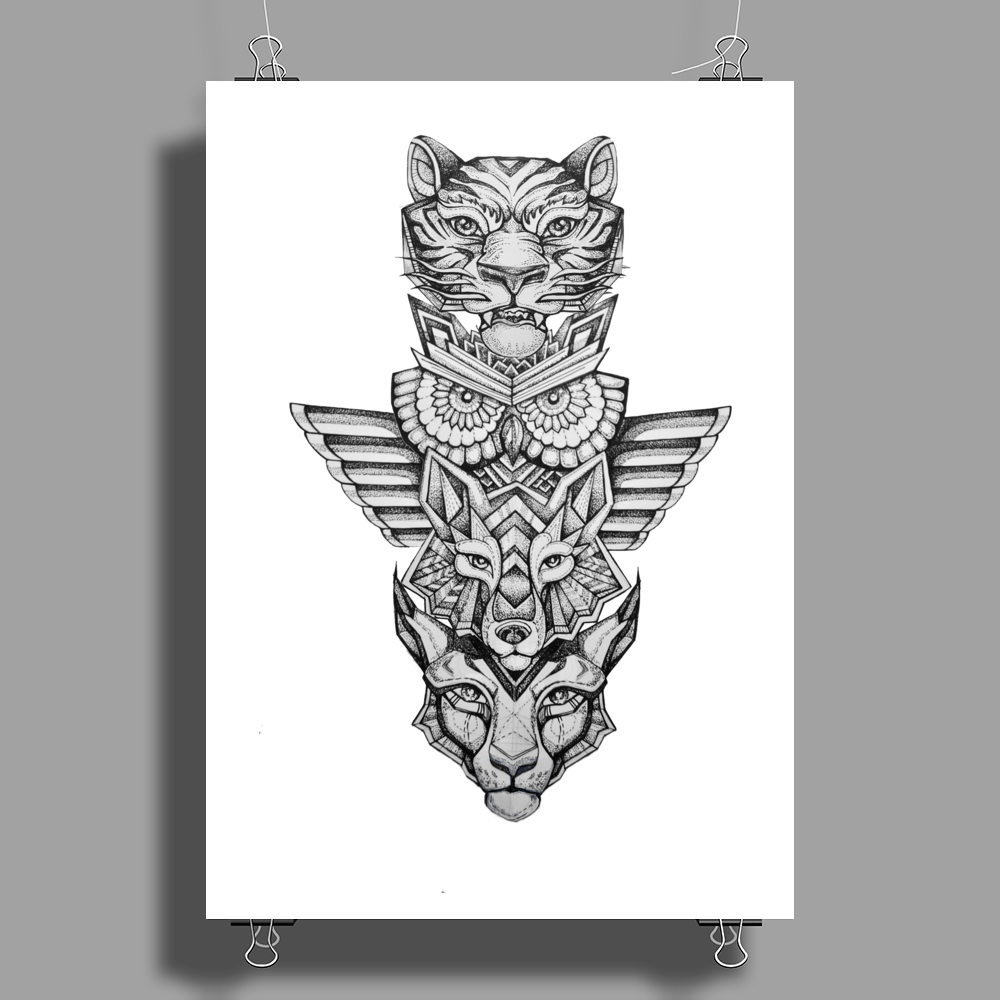 Animal Totem Poster Print (Portrait)