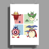 animals heroes Poster Print (Portrait)