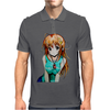 anime woman Mens Polo
