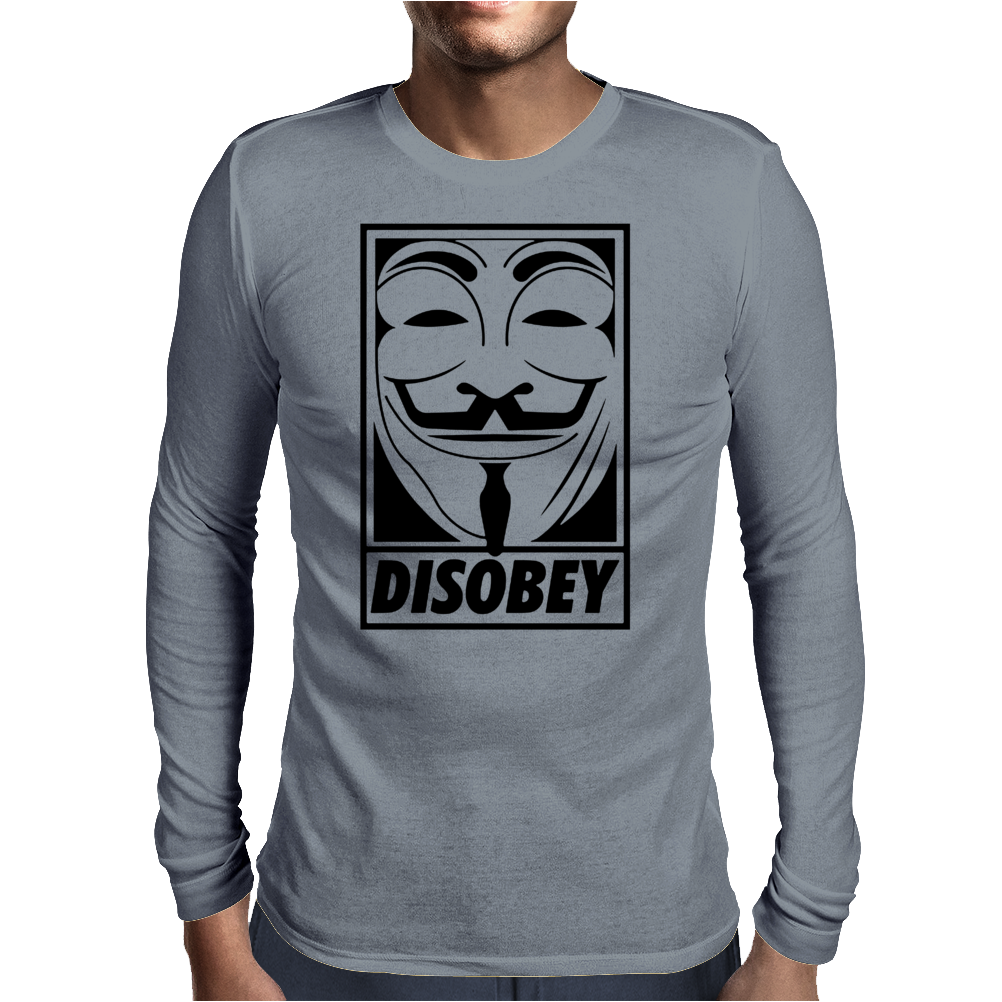 Anonymous Disobey Mens Long Sleeve T-Shirt