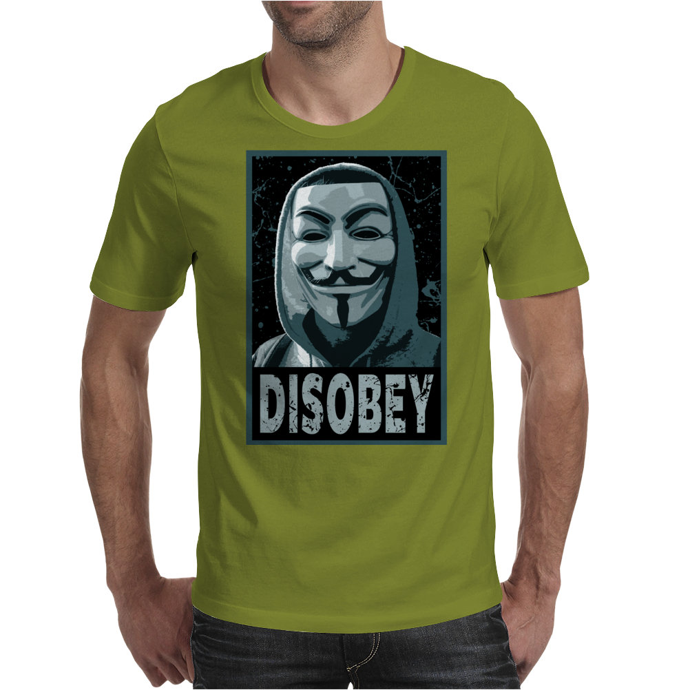 Anonymous , Disobey Mens T-Shirt