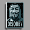 Anonymous , Disobey Poster Print (Portrait)