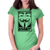 Anonymous Disobey Womens Fitted T-Shirt