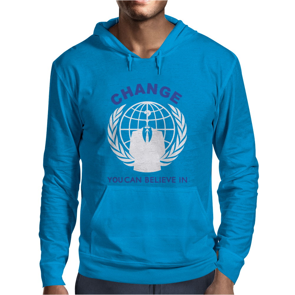 ANONYMOUS HACKER REVOLUTION Mens Hoodie