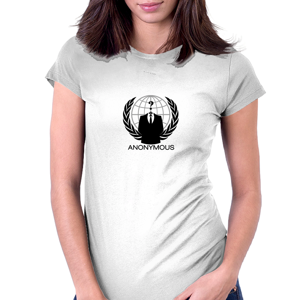 Anonymous Logo Womens Fitted T-Shirt