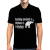 Anything Unrelated To Elephants Is Irrelephant Mens Polo