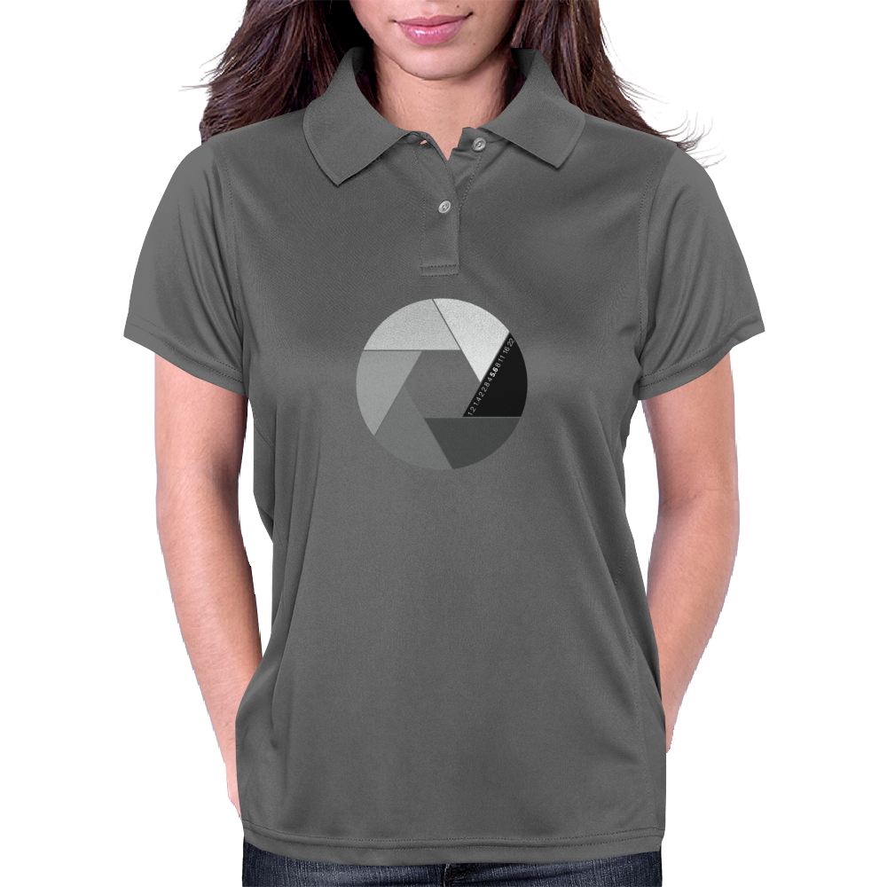 Aperture bw Womens Polo