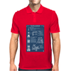 Apollo Missions Blueprint Poster Mens Polo