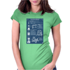 Apollo Missions Blueprint Poster Womens Fitted T-Shirt