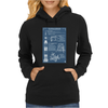 Apollo Missions Blueprint Poster Womens Hoodie