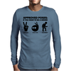 Approved Poses if you want to be a Memer Mens Long Sleeve T-Shirt