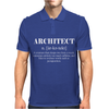 Architect Definition - Funny Mens Polo
