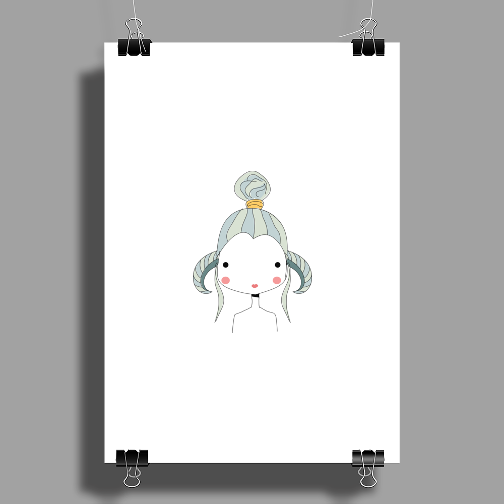 Aries Girl Poster Print (Portrait)