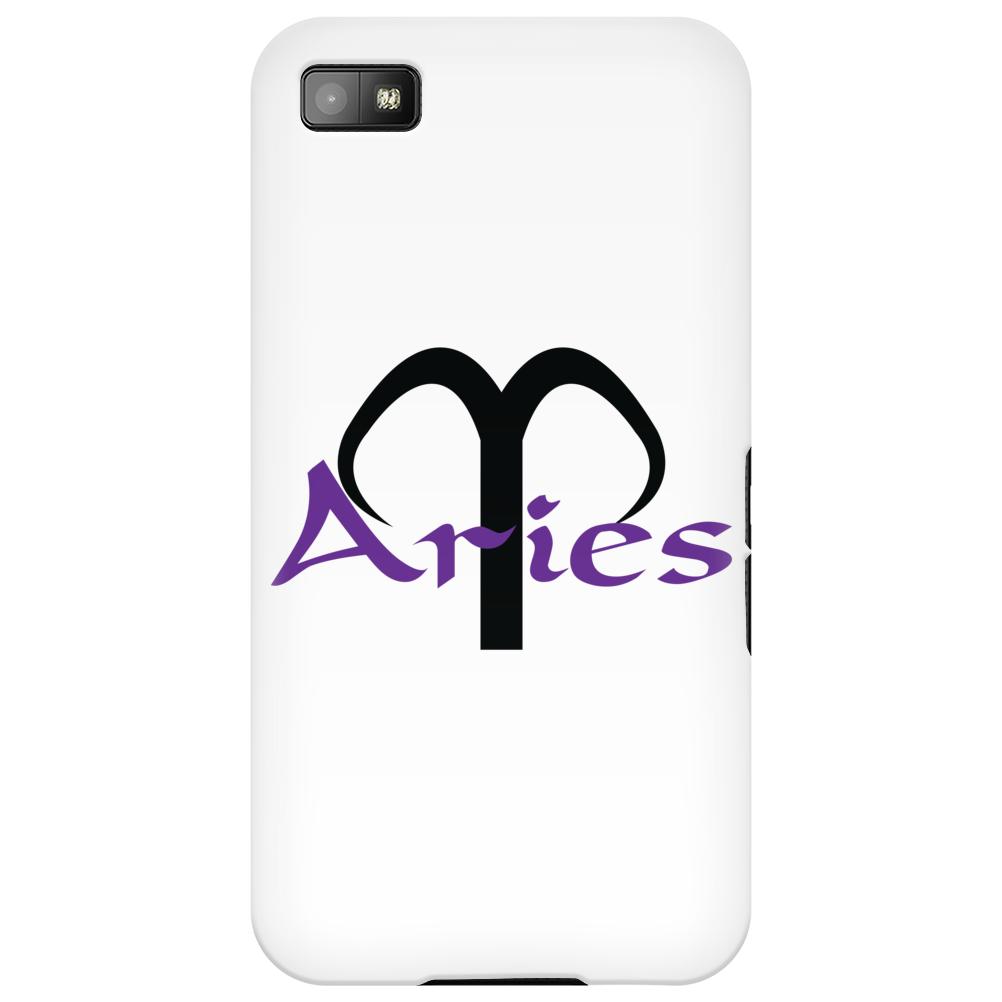 Aries in purple Phone Case