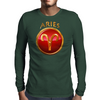 Aries Zodiac Sign Mens Long Sleeve T-Shirt