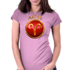 Aries Zodiac Sign Womens Fitted T-Shirt
