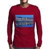 Arles France french city river Rhône blue hour evening Mens Long Sleeve T-Shirt