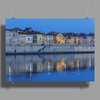 Arles France french city river Rhône blue hour evening Poster Print (Landscape)