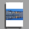 Arles France french city river Rhône blue hour evening Poster Print (Portrait)