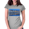 Arles France french city river Rhône blue hour evening Womens Fitted T-Shirt