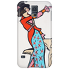 ART DECO  1920'S GIRL WITH DOG Phone Case