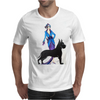 ART DECO, FLAPPER AND DOG Mens T-Shirt