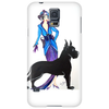 ART DECO, FLAPPER AND DOG Phone Case