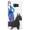 ART DECO   FLAPPER AND DOG Phone Case