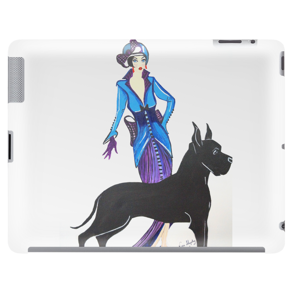 ART DECO   FLAPPER AND DOG Tablet (horizontal)