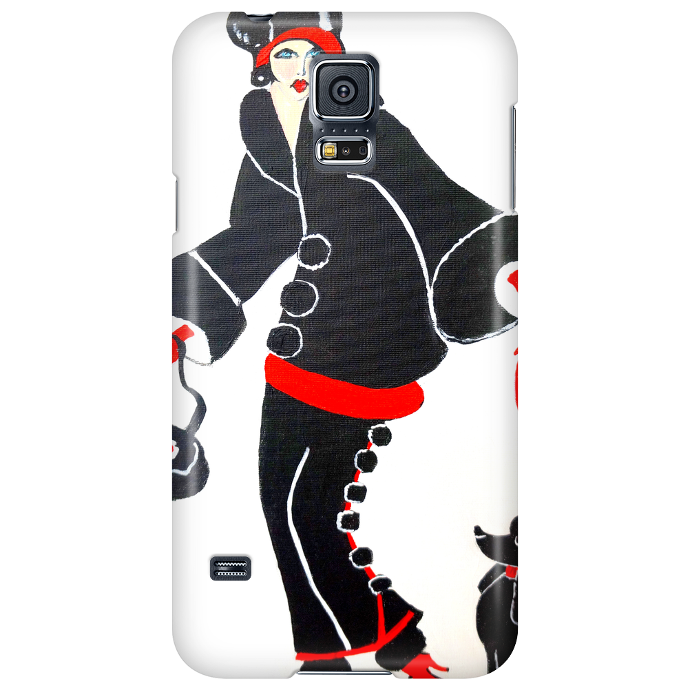 ART DECO  FLAPPER WITH DOG Phone Case