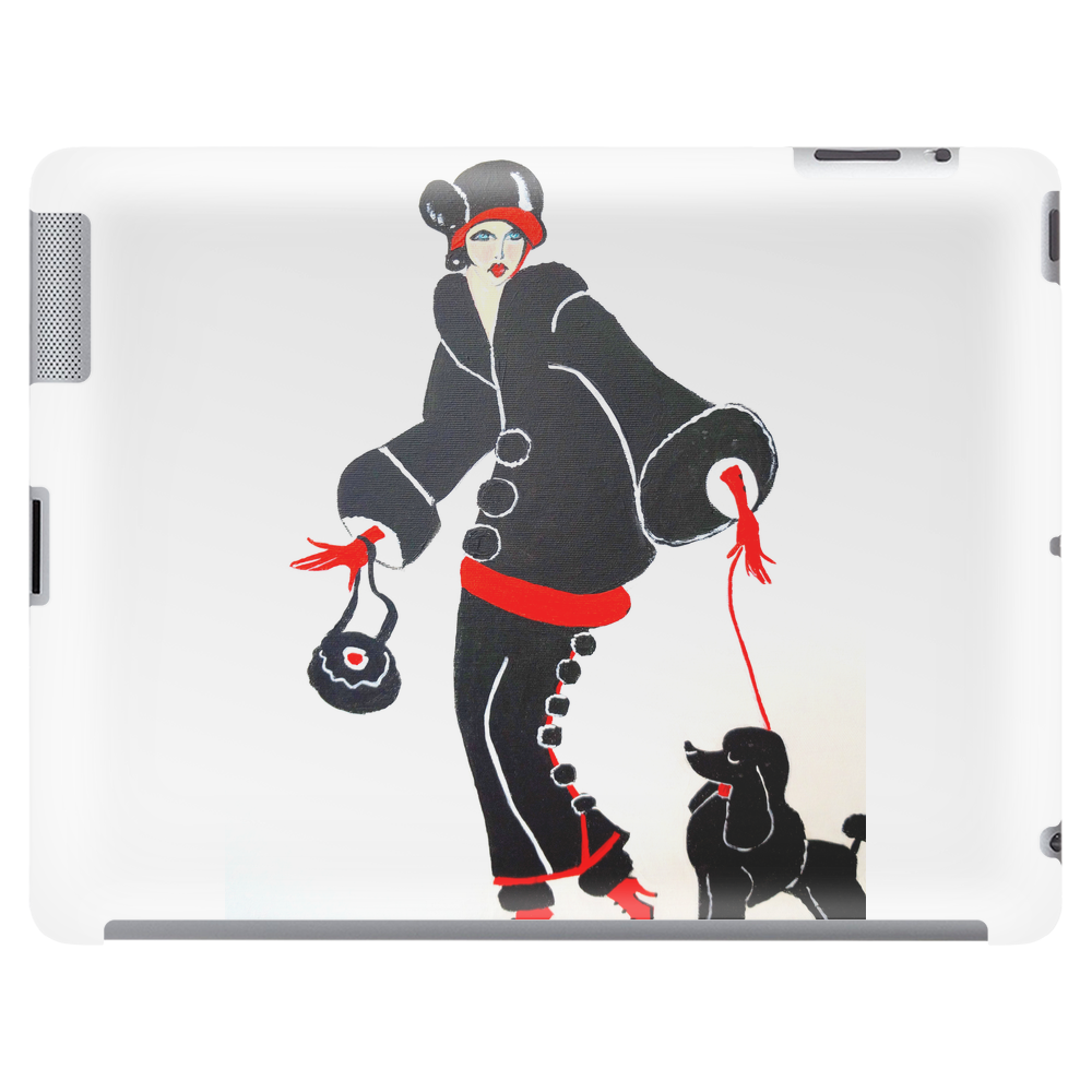 ART DECO  FLAPPER WITH DOG Tablet (horizontal)