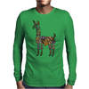 Artistic Awesome Fun Llama Original Art Abstract Mens Long Sleeve T-Shirt