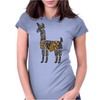 Artistic Awesome Fun Llama Original Art Abstract Womens Fitted T-Shirt