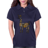 Artistic Awesome Fun Llama Original Art Abstract Womens Polo