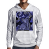 Artistic Blue Elephant Art AbstractOriginal Mens Hoodie