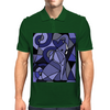 Artistic Blue Elephant Art AbstractOriginal Mens Polo