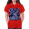 Artistic Blue Elephant Art AbstractOriginal Womens Polo