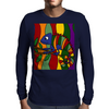 Artistic Colorful Chameleon Original Art Mens Long Sleeve T-Shirt