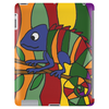 Artistic Colorful Chameleon Original Art Tablet (vertical)