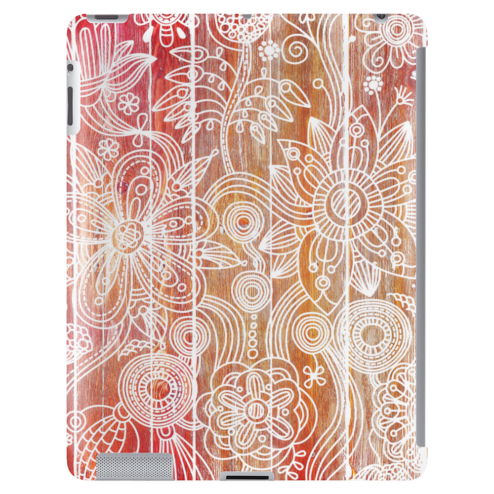 Artistic Flower Print Tablet