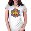 Artistic Flower Womens Fitted T-Shirt