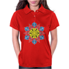 Artistic Flower Womens Polo