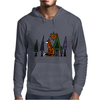 Artistic Red Fox in Woods Original Artwork Mens Hoodie